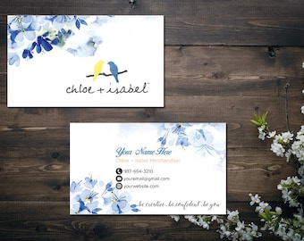 PERSONALIZED Chloe and Isabel Business Card, Custom Chloe and Isabel Card, Fast Free Personalization, Printable Business Card CL04