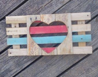 Small heart cutout sign