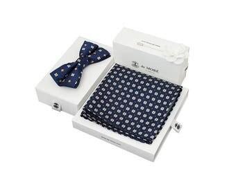 de MORÉ - blue agate bow tie set
