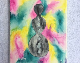 Original Watercolor Painting - Rain Goddess