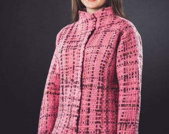 Felted jacket  Weave from merino wool.Size L