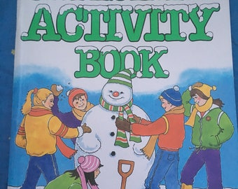 Vintage Christmas activity book