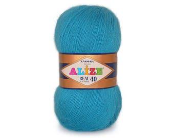 Angora Real40 Alize Crochet yarn Yarn for knitting Winter yarn Hand knit yarn Color choice Angora yarn Soft yarn Wool blend yarn