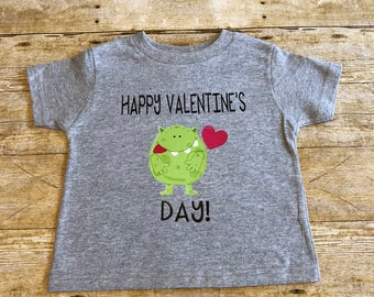 Valetine's Day Shirt, Kids Custom Valentine's Day Shirt, Monster Valentine's Day Shirt