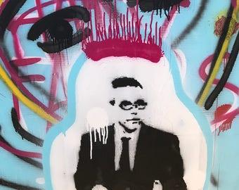 Custom Graffiti Style Portraits, made to order , stencil, spray paint , canvas
