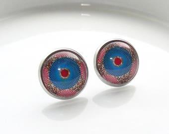 Stud Earrings - African Stud Earrings - African Earrings - Ankara Stud Earrings - Ankara Earrings - Round African Earrings