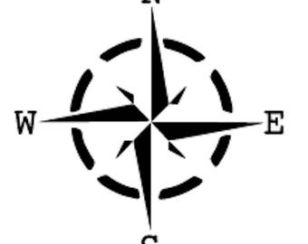 Fusion Stencil 05 - NWSE Compass - Furniture or Wall Stencil
