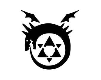 Fullmetal Alchemist Ouroboros Vinyl Decal