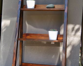 Modern Leaning 3-Shelf Bookcase, Dark Walnut