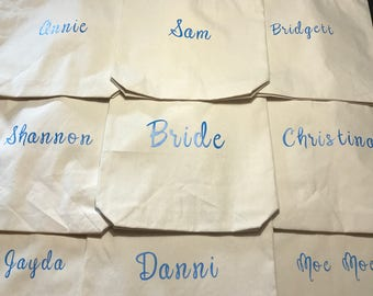 Customized Bridal/Bridesmaid Tote Bags