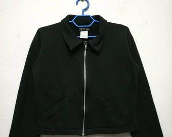 Vintage Agnes B Zipper Up Sweater Sweatshirt Jacket Women Size