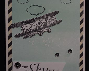 Bi-plane card, Good Luck, Congratulations
