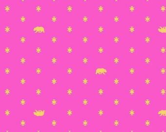 Tula Pink - Bear Hug in Starlet - Spirit Animal - (PWTP101.STARL) - 1/2 Yard++