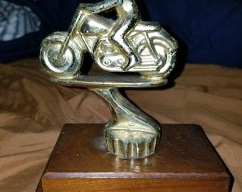 Vintage 1963 Motorcycle Racing Trophy