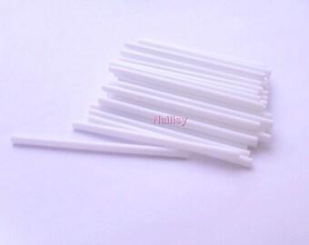 Set of 50 REF1798 7cm white lollipop sticks