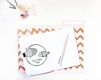 Hand Drawn Premade Logo - One of a Kind OOAK - Cute, Feminine, Animal, Fish Design