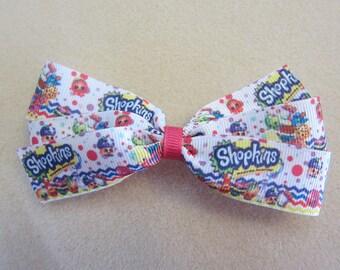 Large Shopkins Pinwheel Hair Bow