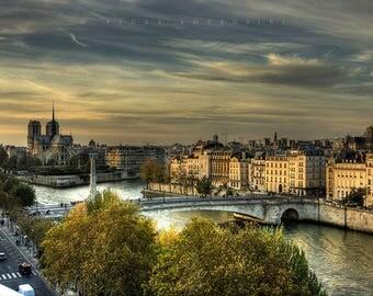 Photograph of Paris, Notre Dame, the Seine