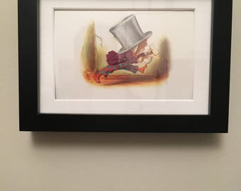 Classic Alice in Wonderland Illustration - framed - Mad Hatter