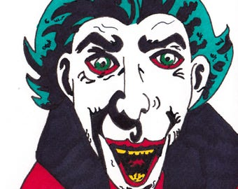 The Joker - One Off Sketch Card