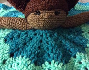Crochet Lovey Security  Blanket