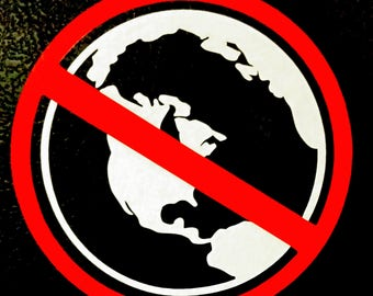 No Globe Vinyl Decal