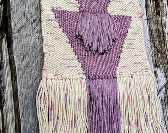 Woven wall hanging; Triangle fringe