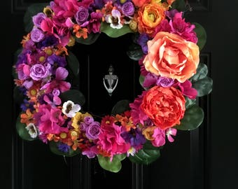 Vibrant Summer Wreath