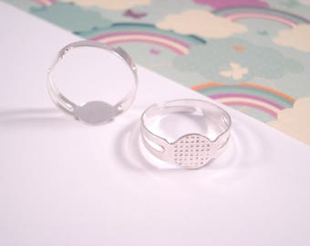Ring Bases - Silver x 30 (Adjustable Size)
