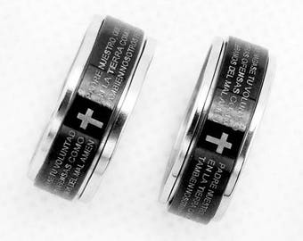 Unisex ring our father