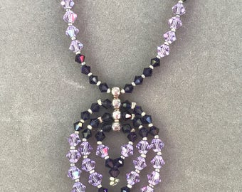 Purple and Lavender Swarovski Crystal Necklace