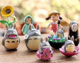 Studio Ghibli Anime Figure My Neighbor Totoro Toy Hayao Miyazaki Mini Garden Set