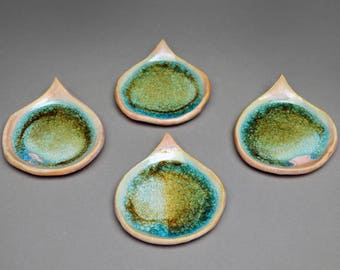 SALE: Handmade Pink and Blue Jewelry Dish
