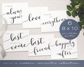 DIY Wedding Signs - Modern Romantic Collection - Wedding Signs - DIY Printable Black and White