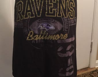 Baltimore Ravens Upcycled Skirt