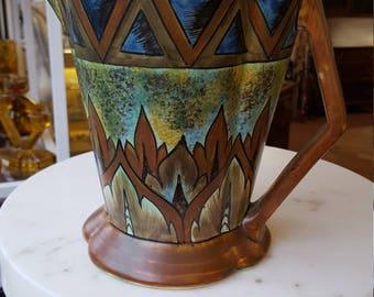 Art Deco Clews Pottery Chameleon Ware Jug