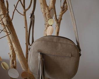 sac cuir, bandoulière, wax, sac à main