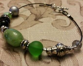 Harry Potter Bracelet - Slytherin - Green and Silver