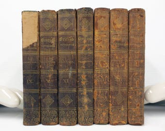 Antique 1820 History of Sir Charles Grandison Samuel Richardson 7 Books, Complete