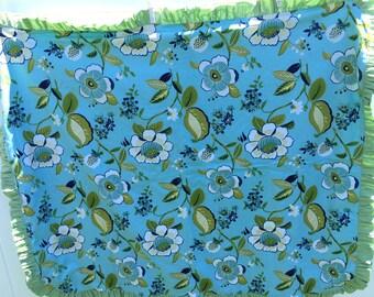 Blue Green Ruffle Quilt