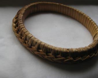 vintage wicker woven bangle bracelet