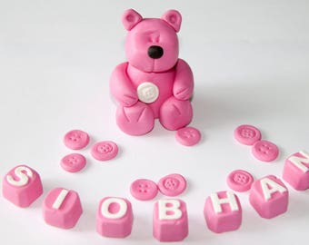 Teddy bear cake topper decoration sugarpaste