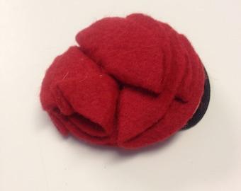Red flower hairband