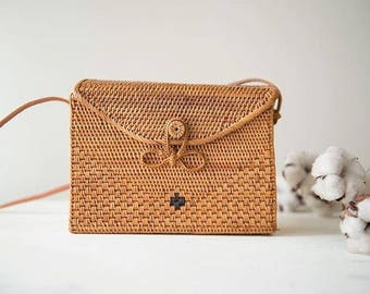 Rectangle Mail Rattan Bag / weaved bag - will be Instock in one day!