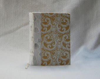 A6 Raised Cord binding Damask Notebook Journal Diary