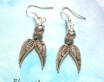 Earrings silver dangling Angels