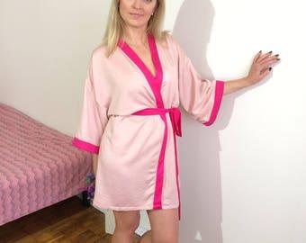 Bridesmaids robes, Bridal robes, Women's robes, Light pink robes, Pearl robes, Elegant robe, Robe for women, Robe sets