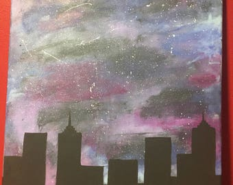City skyline- galaxy
