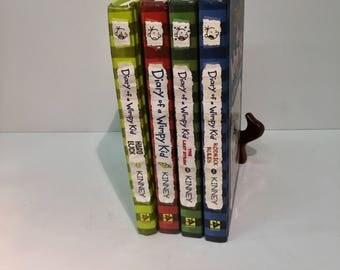 Diary of a Wimpy Kid set of 4 Rodrick Rules.The Last Straw.Greg Heffley'sJournal.Hard Luck