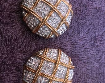 Vintage Silver and Gold coloured Clip on Earrings